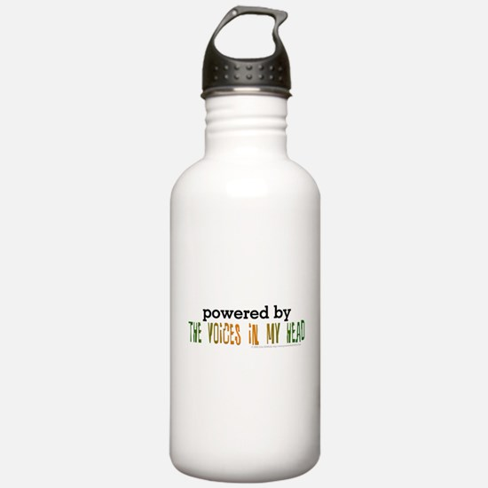 Powered By Voices In My Head Water Bottle
