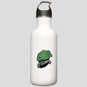 Red Eared Slider (Turtle) Stainless Water Bottle 1