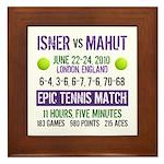 Isner Epic Match Framed Tile