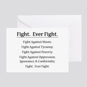 Fight. Ever Fight. Greeting Card