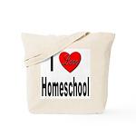 I Love Homeschool Tote Bag