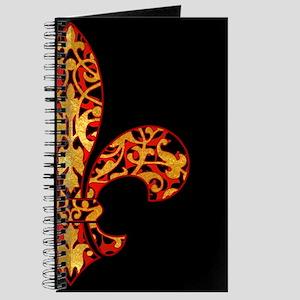 Gold Leaf Fleur de lis Journal