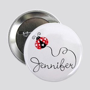 "Ladybug Jennifer 2.25"" Button"