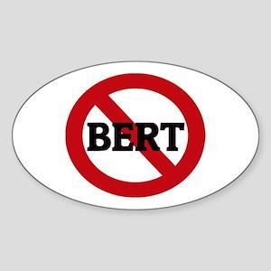 Anti-Bert Oval Sticker
