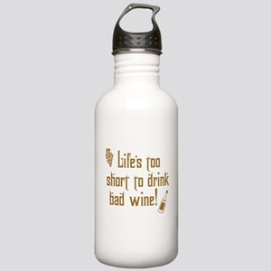 Life Short Bad Wine Stainless Water Bottle 1.0L