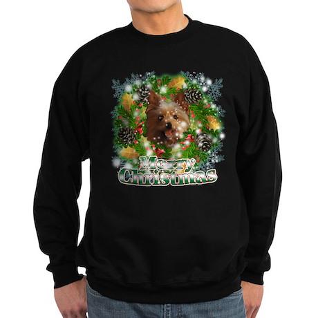 Merry Christmas Yorkie Sweatshirt (dark)