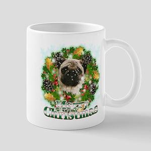 Merry Christmas Pug Mug