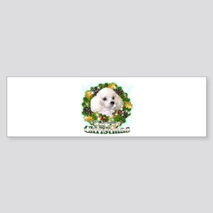 Merry Christmas Poodle Sticker (Bumper)