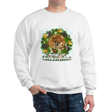 Merry Christmas Pomeranian Sweatshirt