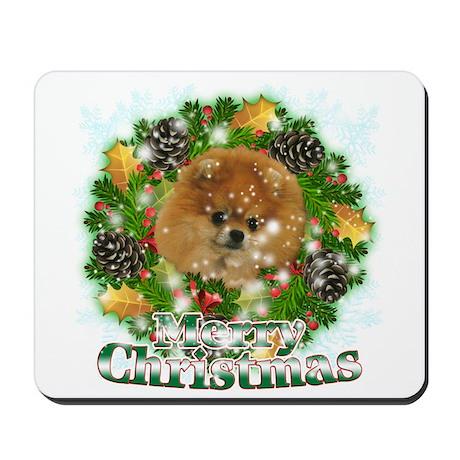 Merry Christmas Pomeranian Mousepad