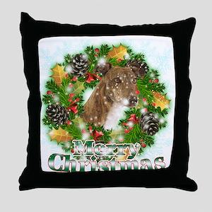 Merry Christmas Greyhound Throw Pillow