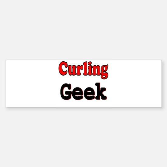 Curling Geek Bumper Bumper Bumper Sticker
