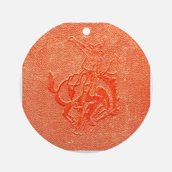 Bronco Ornament (Round)