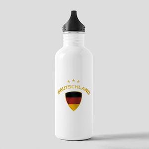 Soccer Crest DEUTSCHLAND gold Stainless Water Bott