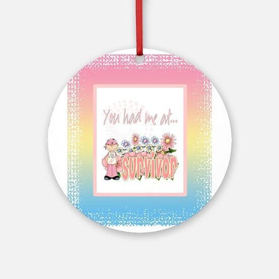 Cancer Survivor Ornament (Round)