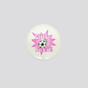 Girls Kick It Soccer Mini Button