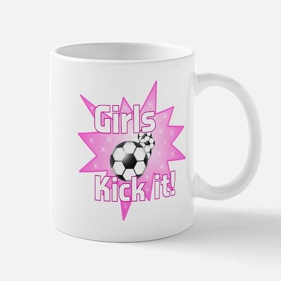 Girls Kick It Soccer Mug