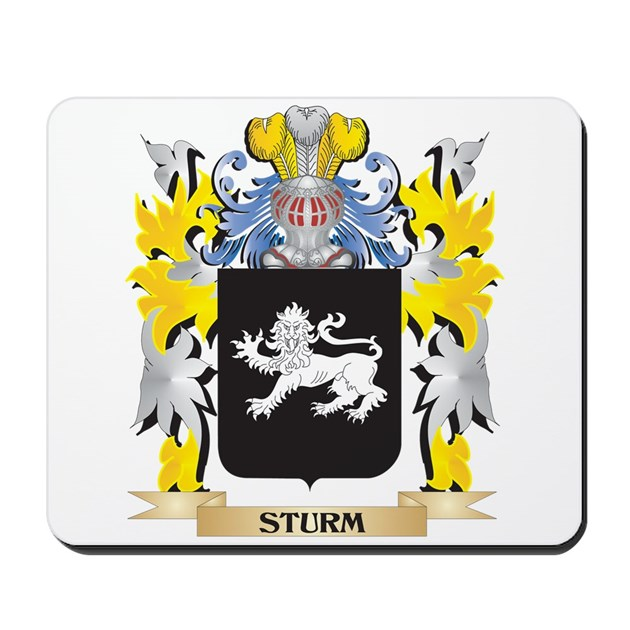 Sturm Family Crest Coat Of Arms Mousepad By Admincp2183672