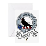 Rutherford Clan Badge Greeting Cards (Pk of 10