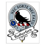 Rutherford Clan Badge Small Poster