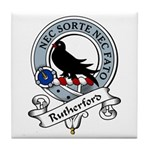 Rutherford Clan Badge Tile Coaster