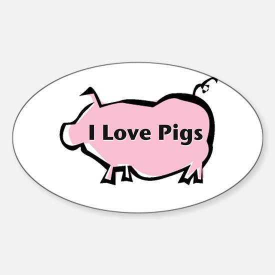 Pig Sticker (Oval)