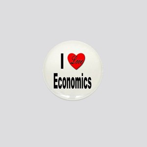 I Love Economics Mini Button