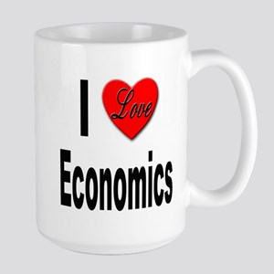 I Love Economics Large Mug