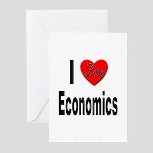 I Love Economics Greeting Cards (Pk of 10)