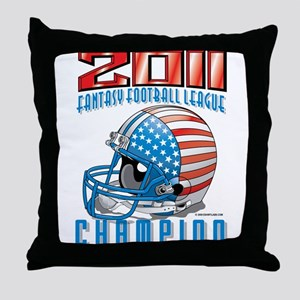 2011 FFL Champion Helmet Throw Pillow