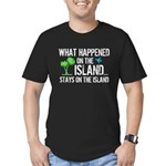 Happened on Island Men's Fitted T-Shirt (dark)