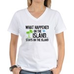 Happened on Island Women's V-Neck T-Shirt