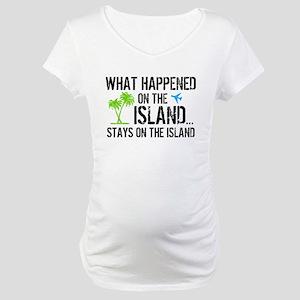 Happened on Island Maternity T-Shirt