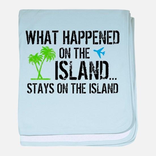 Happened on Island baby blanket