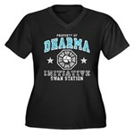 Dharma Swan Women's Plus Size V-Neck Dark T-Shirt