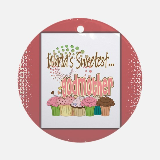 Sweetest Godmother Ornament (Round)