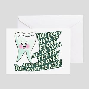 Floss Those Teeth Greeting Card
