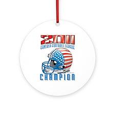 2011 FFL Champion Helmet Ornament (Round)