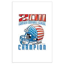 2011 FFL Champion Helmet Large Poster