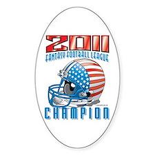 2011 FFL Champion Helmet Sticker (Oval)