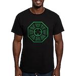 Dharma Luck Green Men's Fitted T-Shirt (dark)