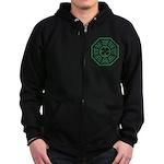 Dharma Luck Green Zip Hoodie (dark)