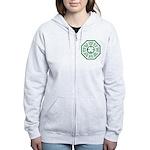 Dharma Luck Green Women's Zip Hoodie