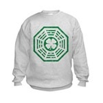 Dharma Luck Green Kids Sweatshirt