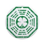 Dharma Luck Green Ornament (Round)