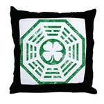Dharma Luck Green Throw Pillow