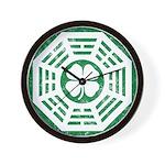 Dharma Luck Green Wall Clock