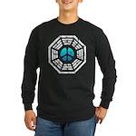 Dharma Blue Peace Long Sleeve Dark T-Shirt
