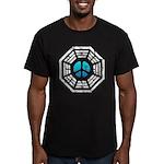 Dharma Blue Peace Men's Fitted T-Shirt (dark)