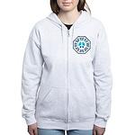 Dharma Blue Peace Women's Zip Hoodie